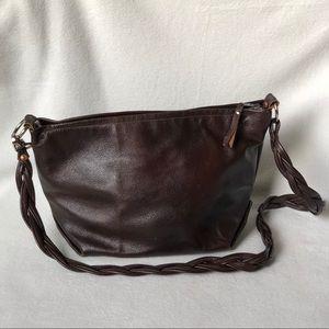 Leather handmade purse - crossbody or shoulder